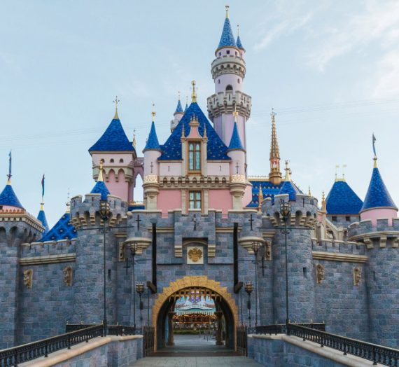 Sleeping Beauty Castle Emerges from Behind the Tarps