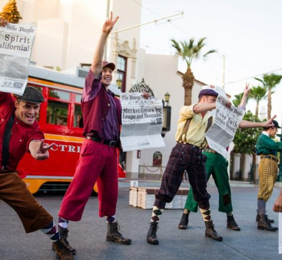 Red Car Trolley News Boys  Show Coming to an End at Disney's California Adventure