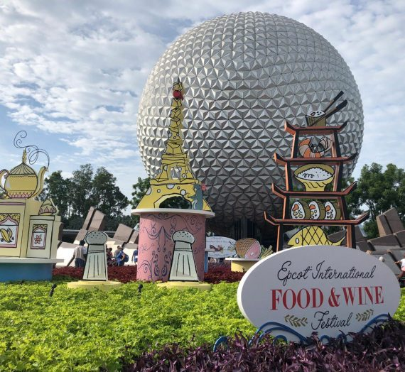 Food Kiosks and Menus for Epcot's International Food and Wine Festival
