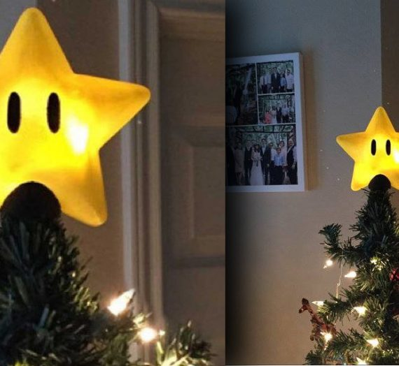 Top off Your Christmas Tree With A Super Mario Bros. Star