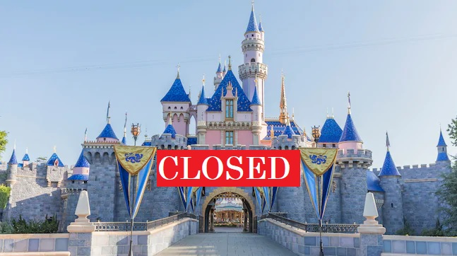 disneyland closed